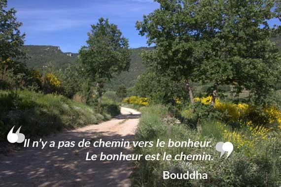"""""""Il n'y a pas de chemin vers le bonheur, le bonheur est le chemin"""""""